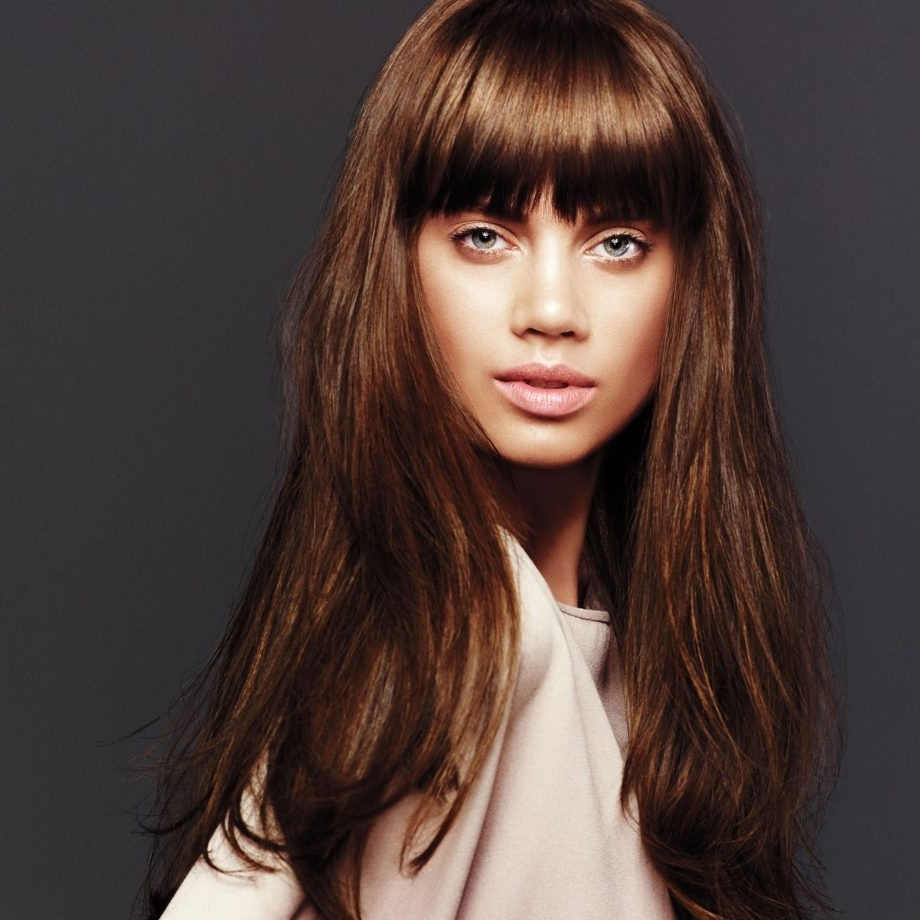 Woman&home Throughout Preferred Weaved Polished Pony Hairstyles With Blunt Bangs (View 10 of 20)