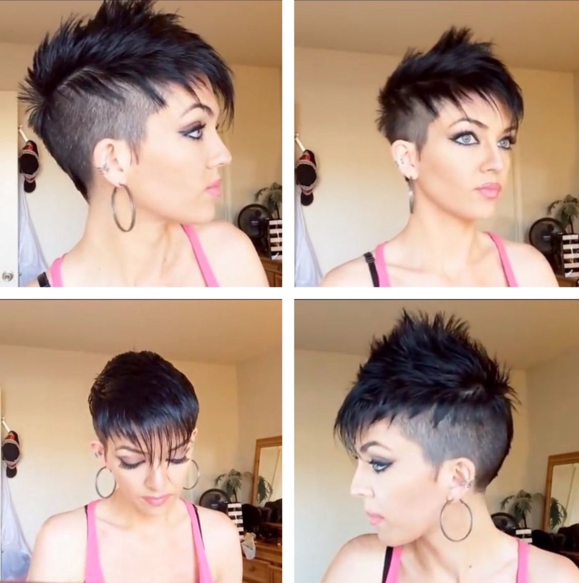 Womans Faux Hawk I Love This Haircut, I'm Getting My Long Hair For Most Current Two Tone High Ponytail Hairstyles With A Fauxhawk (View 11 of 20)