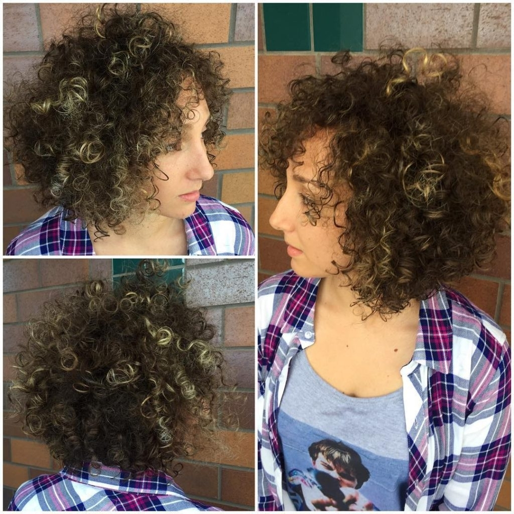 Women's Brunette Layered Bob With Bouncy Corkscrew Curls And Blonde Throughout Preferred Medium Blonde Bob With Spiral Curls (View 10 of 20)