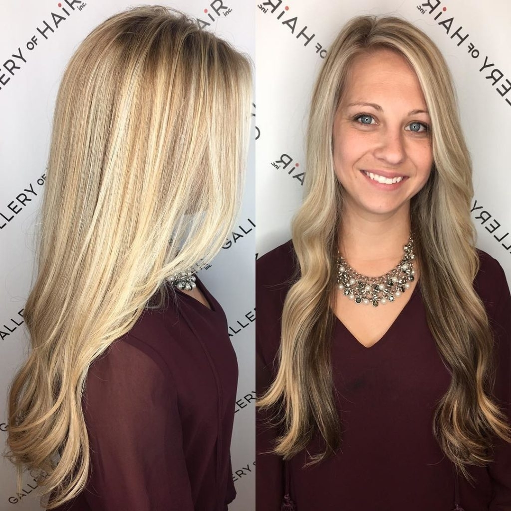 Women's Long Blonde Highlighted Hair With Front Layers And Soft With Most Current Soft Waves Blonde Hairstyles With Platinum Tips (View 19 of 20)