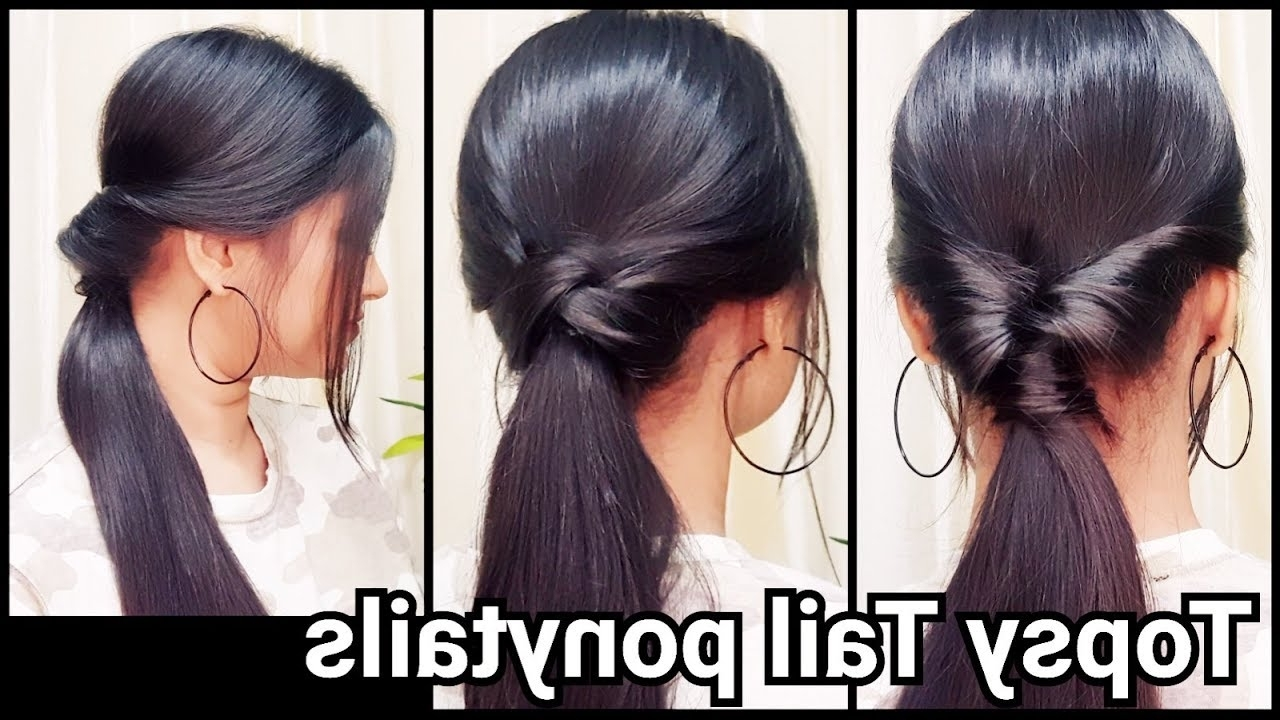 1 Min Everyday Ponytails With Topsy Tail// Hairstyles For School Or For Current Topsy Tail Low Ponytails (View 1 of 20)