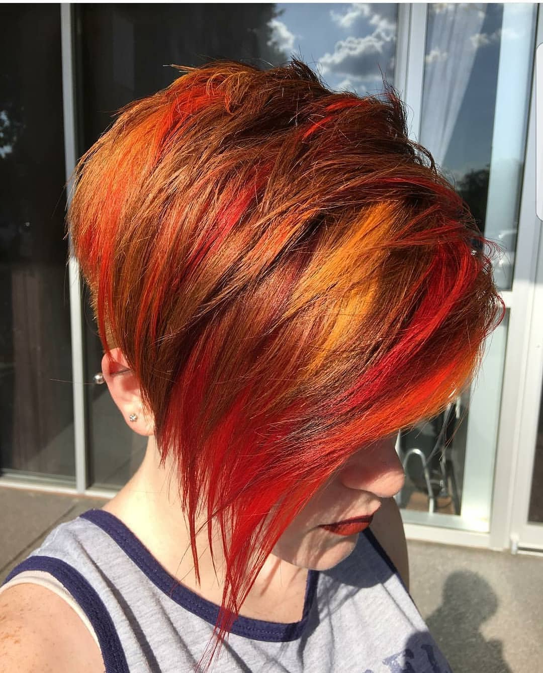 10 Beautiful Asymmetrical Short Pixie Haircuts & Hairstyles, Women Within Tapered Brown Pixie Hairstyles With Ginger Curls (View 1 of 20)