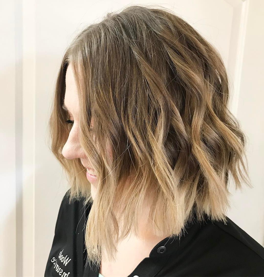 10 Beautiful Medium Bob Haircuts &edgy Looks: Shoulder Length Regarding Choppy Golden Blonde Balayage Bob Hairstyles (View 10 of 20)
