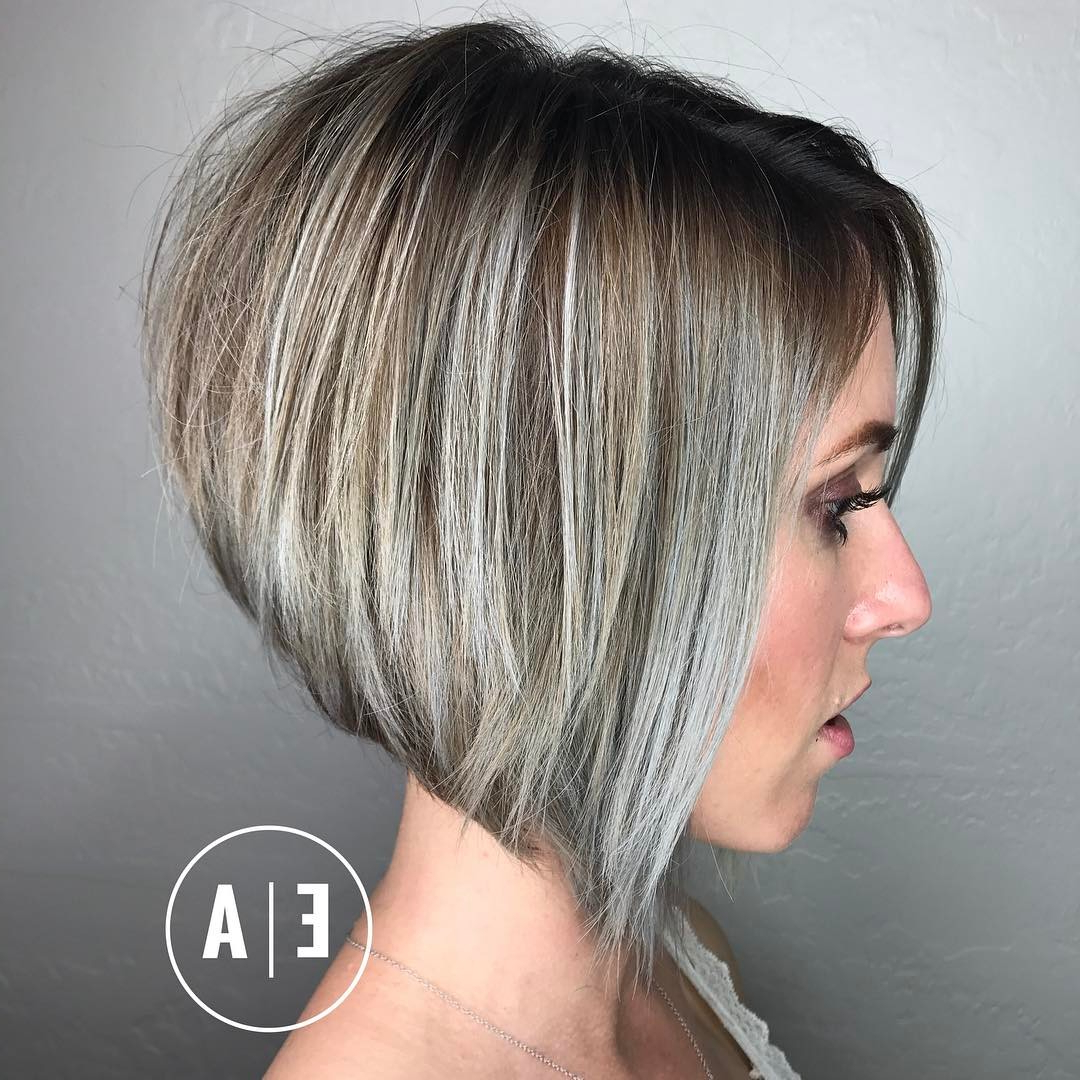 10 Best Short Hairstyles For Thick Hair In Fab New Color Combos Pertaining To Side Parted Asymmetrical Gray Bob Hairstyles (View 1 of 20)