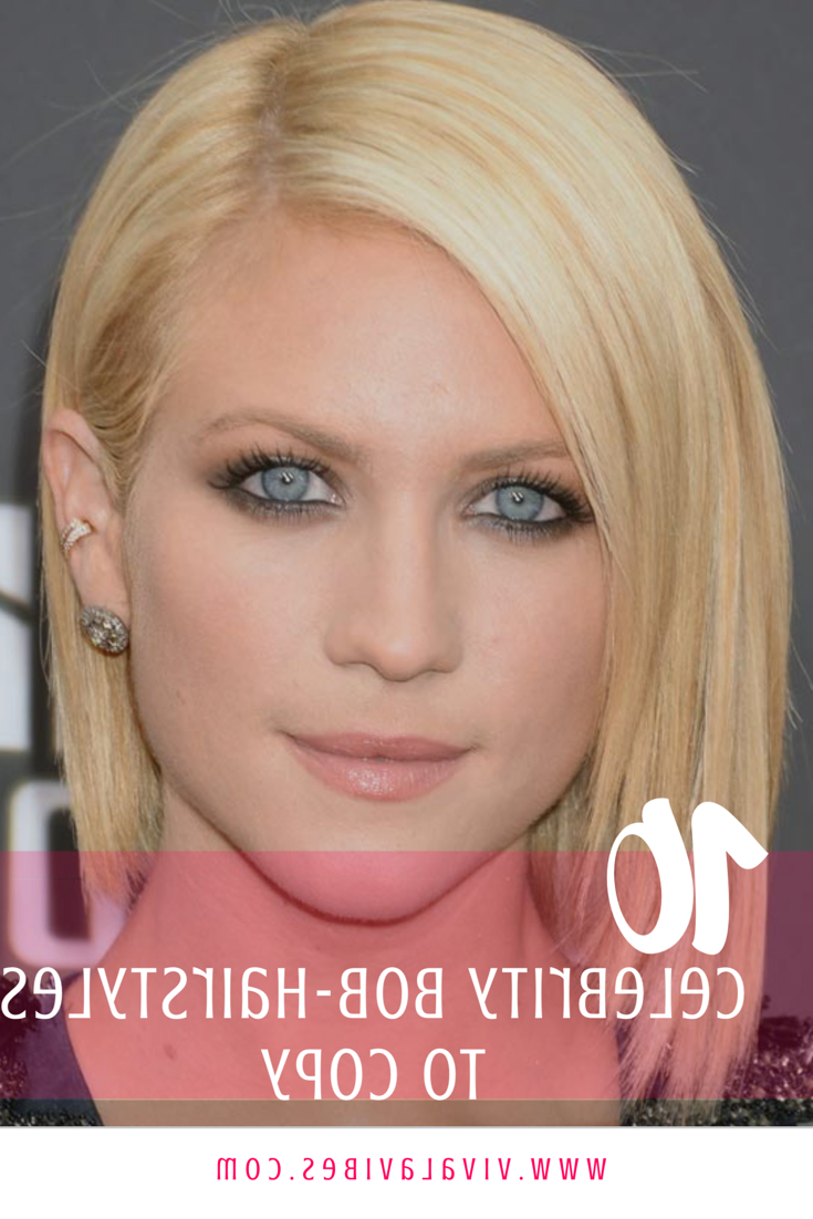 10 Celebrity Bob Hairstyles To Copy | Viva La Vibes Throughout Stunning Poker Straight Bob Hairstyles (View 1 of 20)