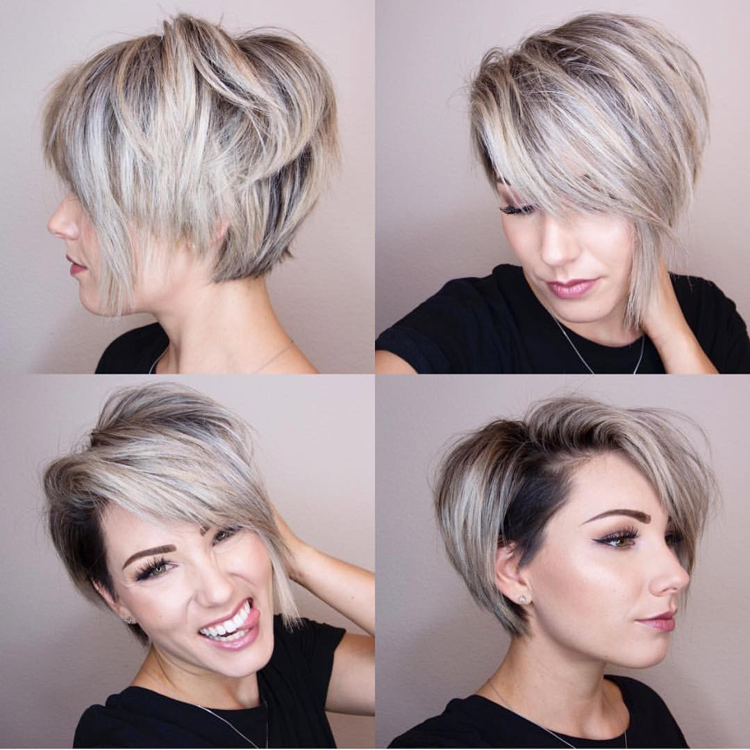 10 Chic Shaved Haircuts For Short Hair – Women Short Hairstyles 2018 Throughout Pixie Short Bob Haircuts (View 3 of 20)