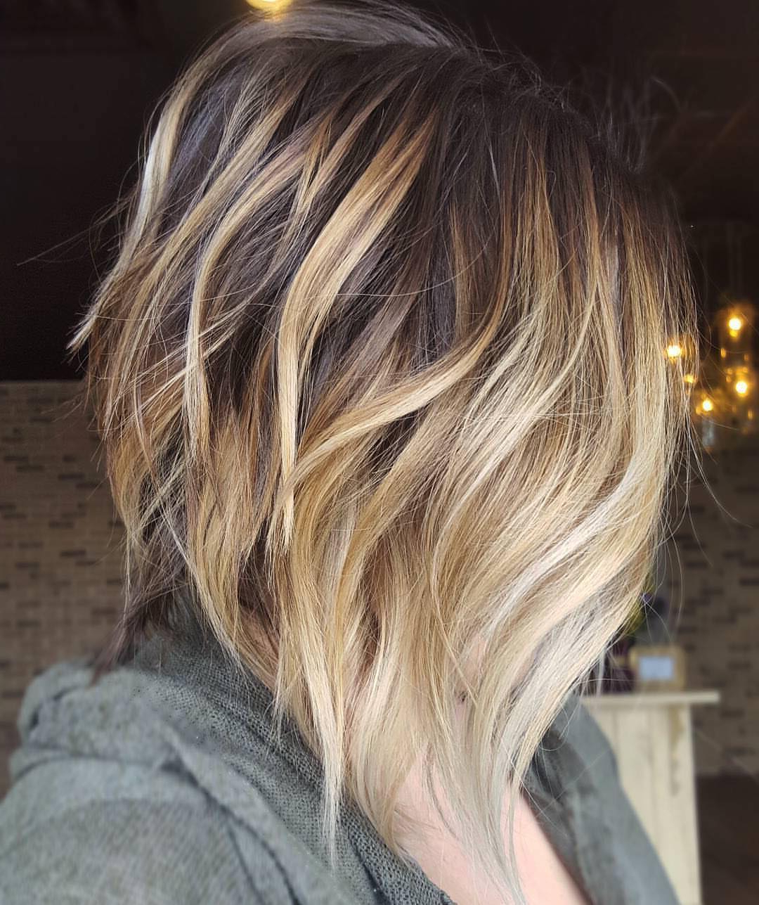 10 Cute Medium Hairstyles With Gorgeous Color Twists – Medium With Regard To Short Stacked Bob Hairstyles With Subtle Balayage (View 1 of 20)