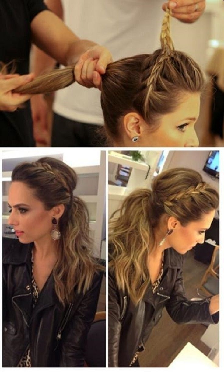 10 Cute Ponytail Ideas: Summer And Fall Hairstyles For Long Hair In Fashionable Braided Crown Pony Hairstyles (View 1 of 20)