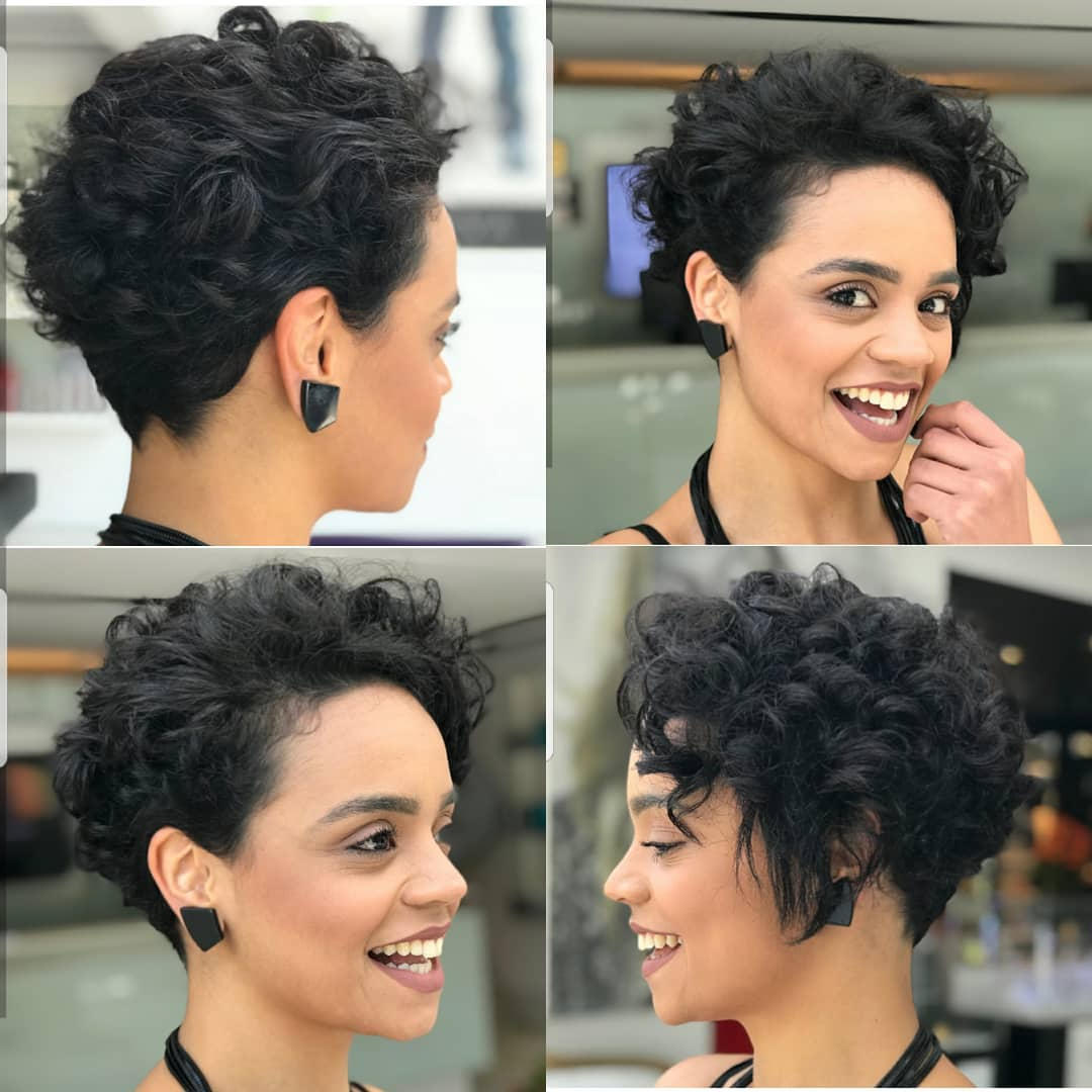 10 Easy Pixie Haircut Styles & Color Ideas, 2018 Women Short Hairstyles Inside Curly Pixie Hairstyles With V Cut Nape (View 7 of 20)