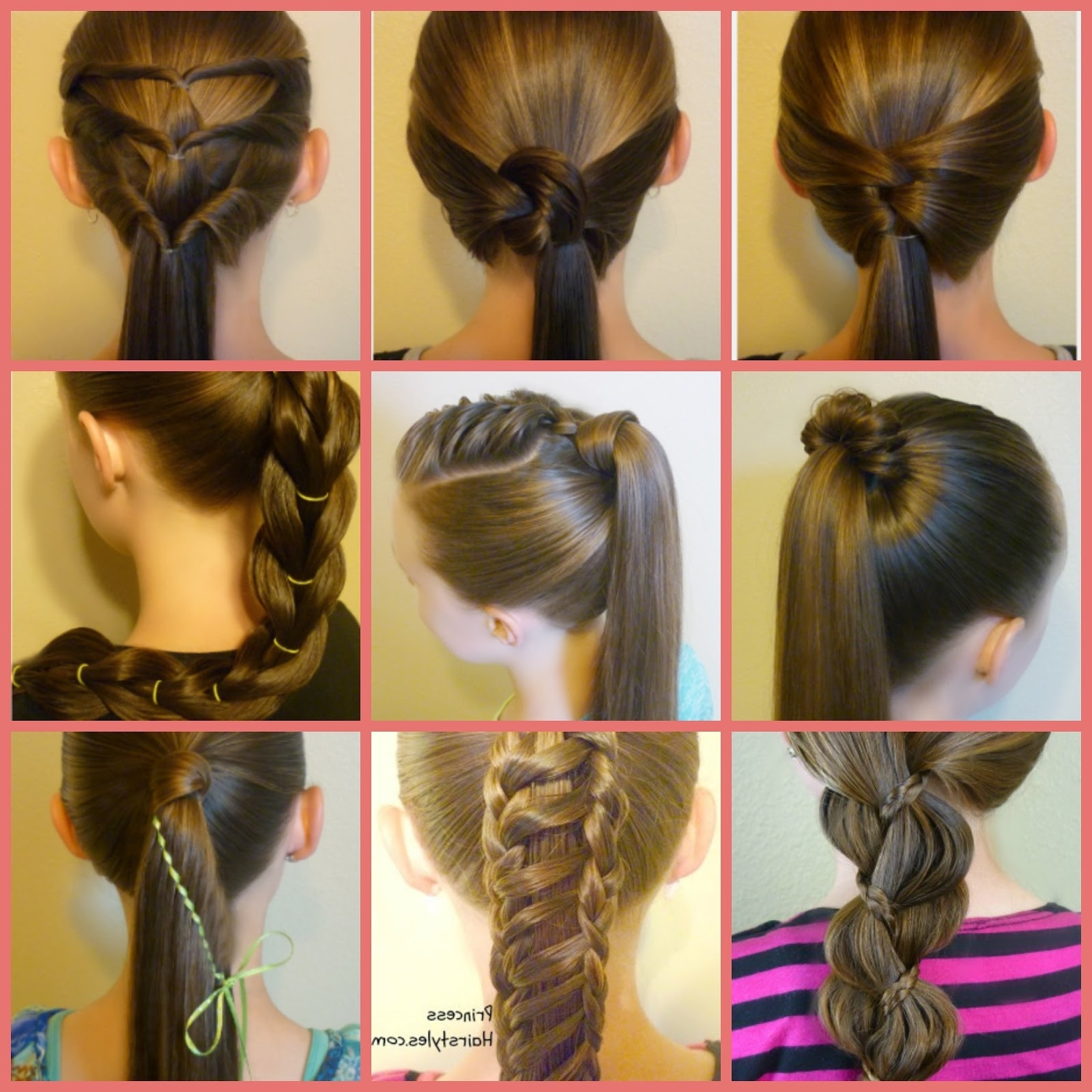 10 Easy Ponytail Hairstyles – Hairstyles For Girls – Princess Hairstyles Within Well Liked Triple Braid Ponytail Hairstyles (View 1 of 20)