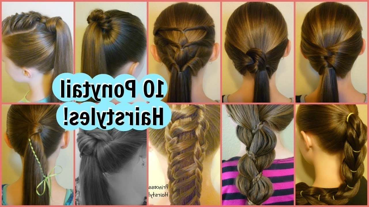 10 Easy Ponytail Ideas! 2 Weeks Of Ponytail Hairstyles For School In Current Twin Braid Updo Ponytail Hairstyles (View 1 of 20)