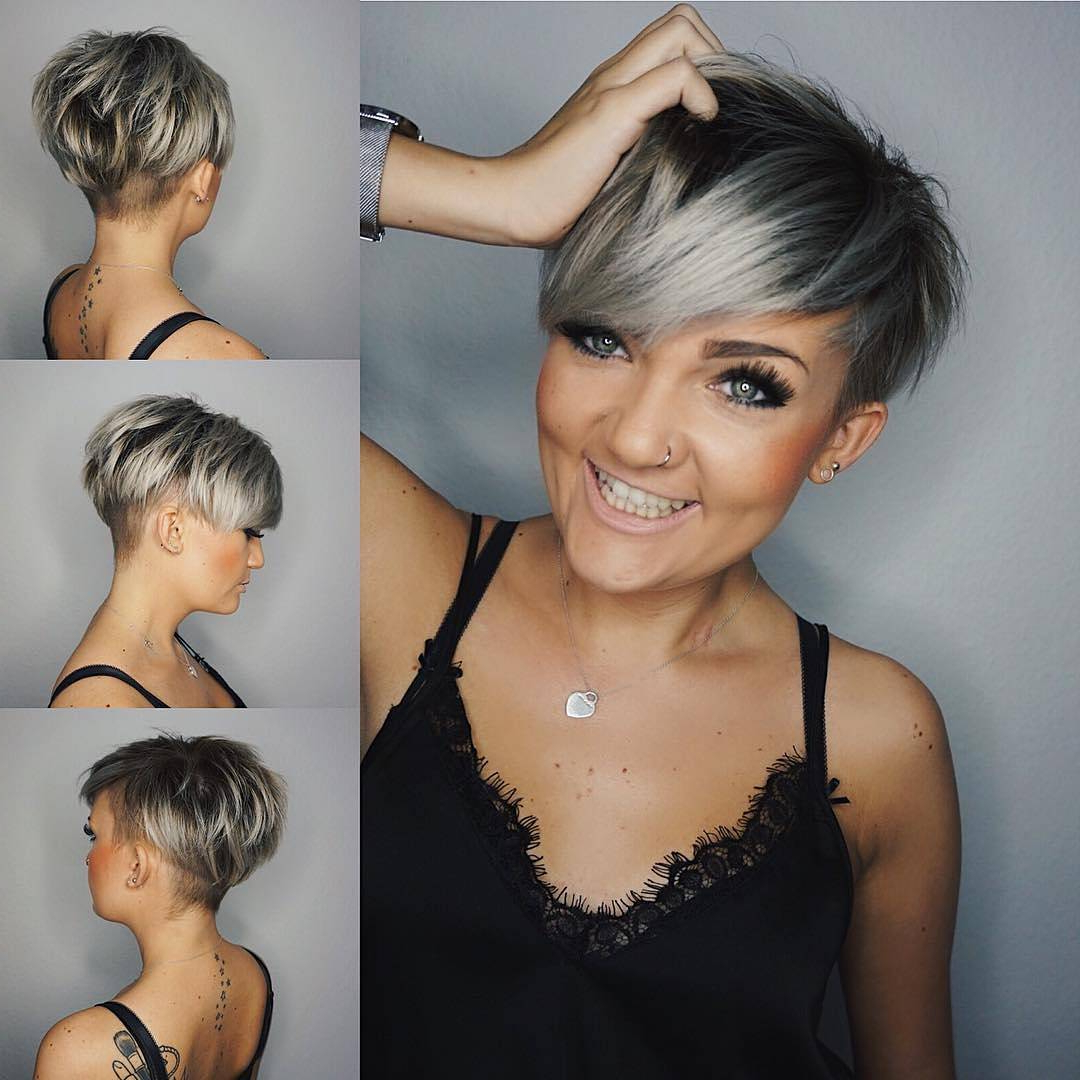 10 Edgy Pixie Haircuts For Women, 2018 Best Short Hairstyles With Regard To Stacked Blonde Balayage Pixie Hairstyles For Brunettes (View 2 of 20)
