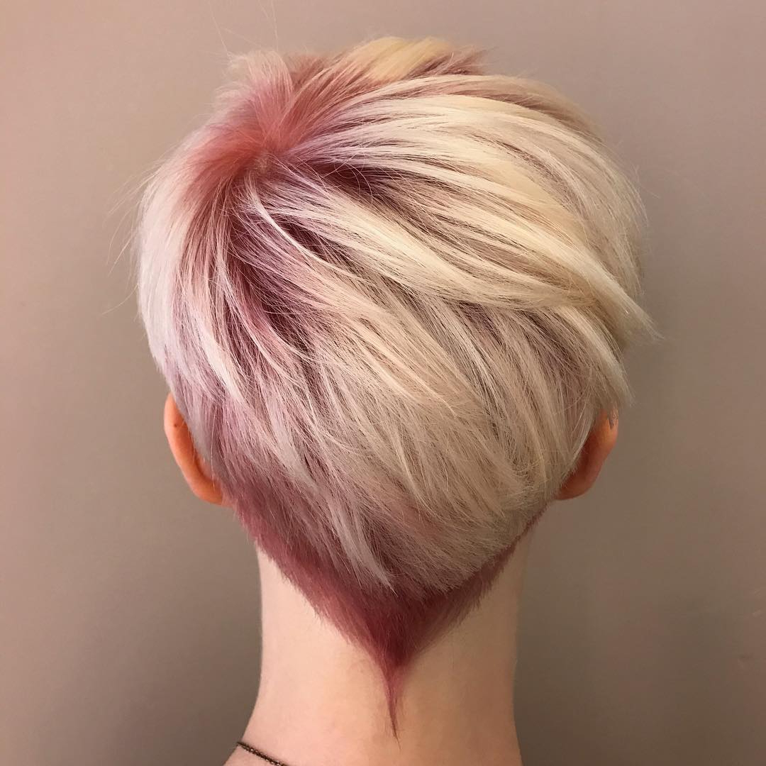 10 Hi Fashion Short Haircut For Thick Hair Ideas  2018 Women Short Inside Messy Pixie Haircuts With V Cut Layers (View 4 of 20)