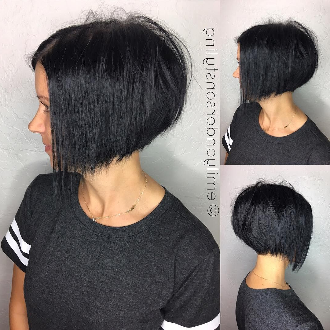 10 Latest Inverted Bob Haircuts: 2018 Short Hairstyle, High Fashion In Voluminous Nape Length Inverted Bob Hairstyles (View 1 of 20)
