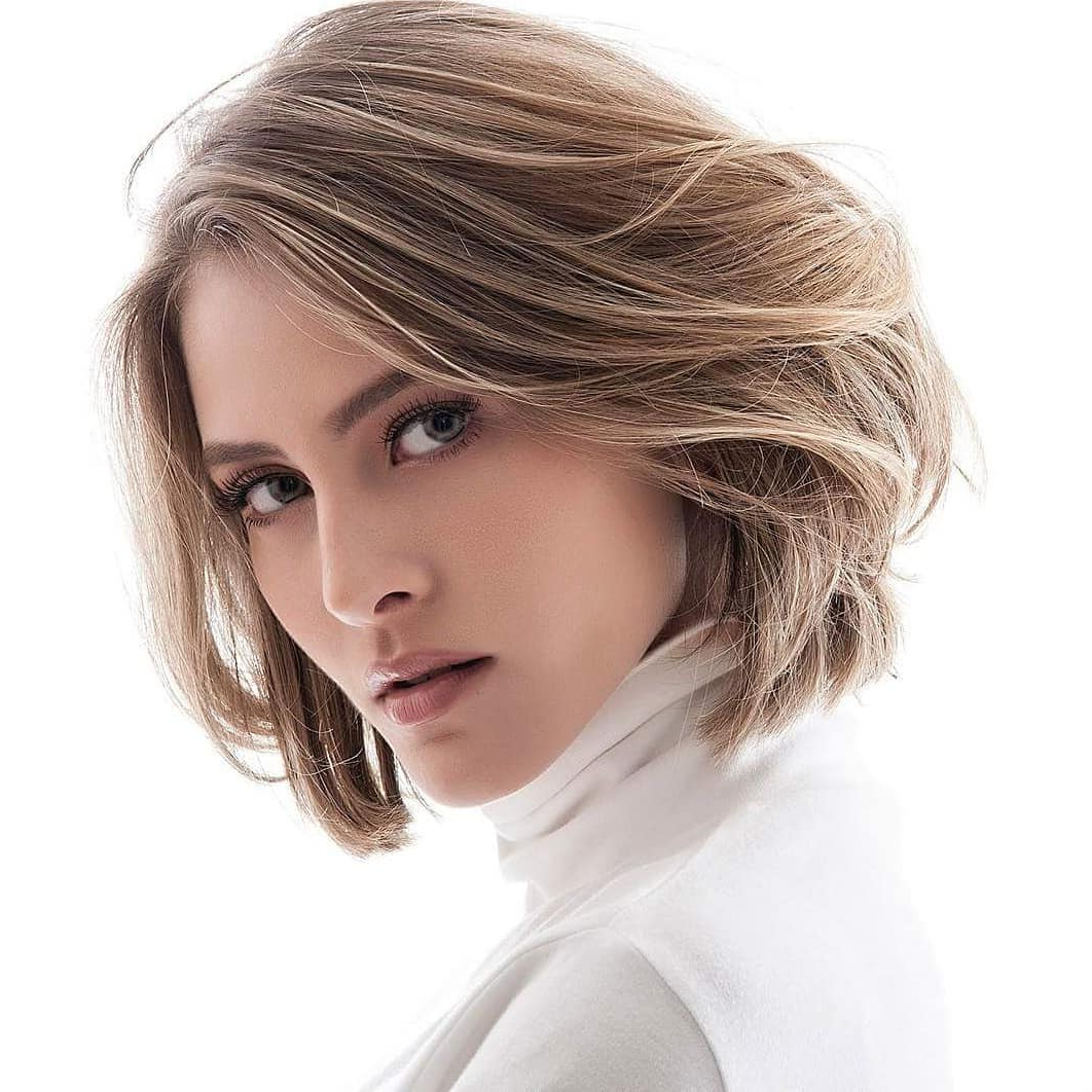 10 Medium Bob Haircut Ideas, Casual Short Hairstyles For Women 2019 Throughout Lip Length Tousled Brunette Bob Hairstyles (View 18 of 20)