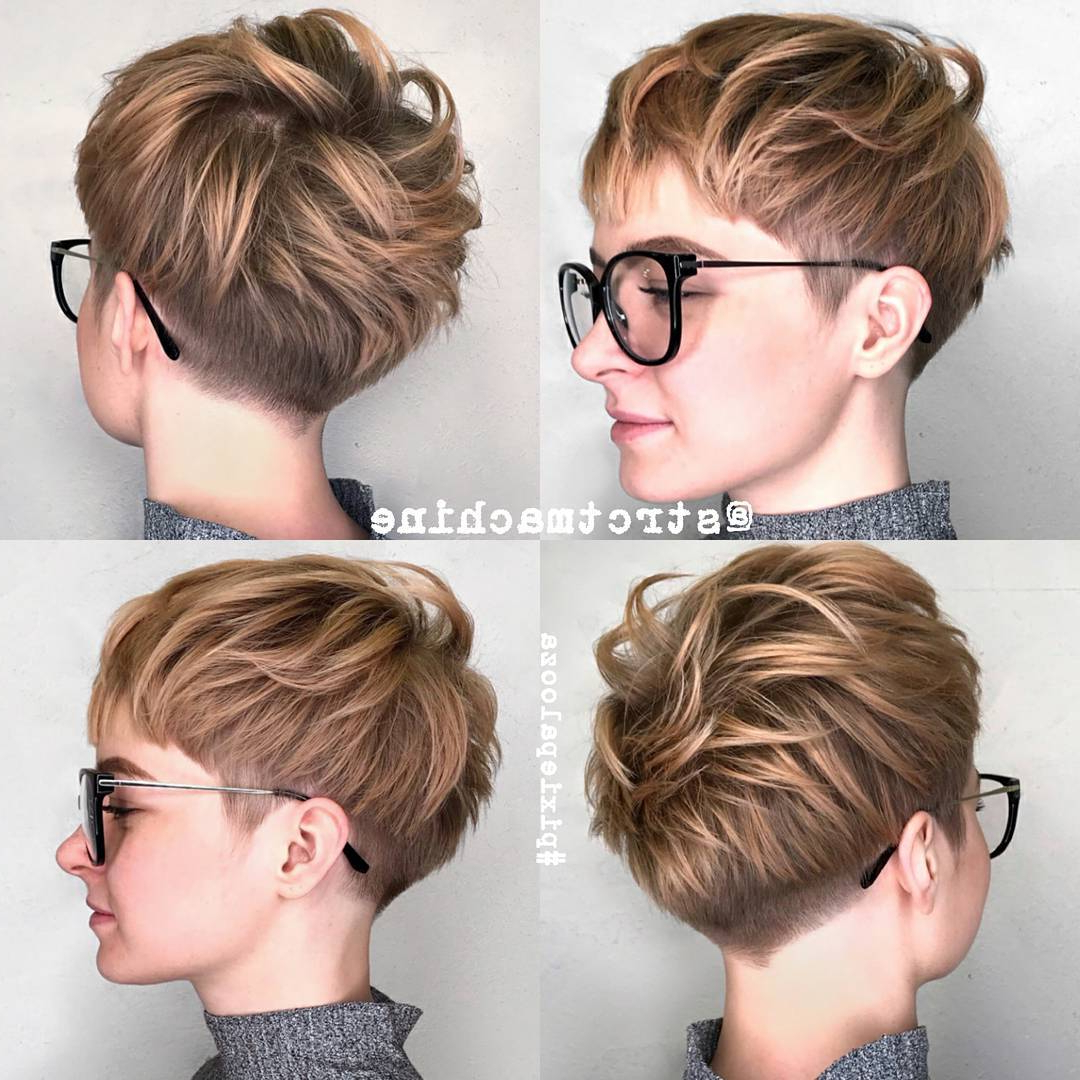 10 New Short Hairstyles For Thick Hair 2018, Women Haircut Ideas With Regard To Curly Pixie Hairstyles With V Cut Nape (View 6 of 20)