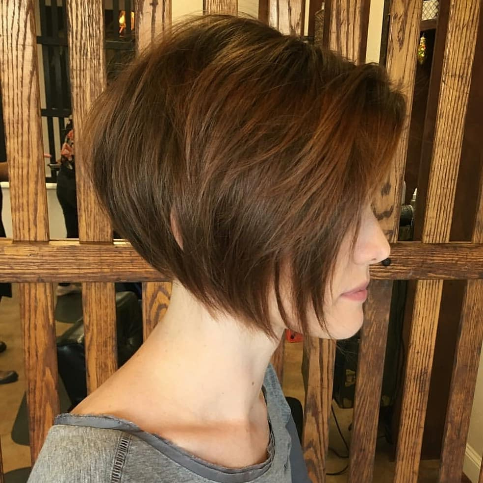 10 New Short Hairstyles For Thick Hair 2019 Pertaining To Layered Bob Hairstyles For Thick Hair (View 4 of 20)
