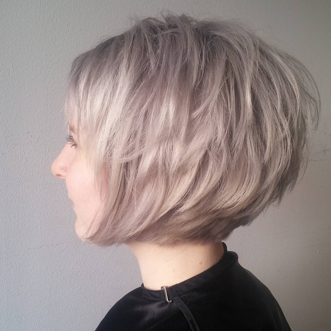 10 Short Edgy Haircuts For Women – Try A Shocking New Cut & Color In Choppy Rounded Ash Blonde Bob Haircuts (View 8 of 20)