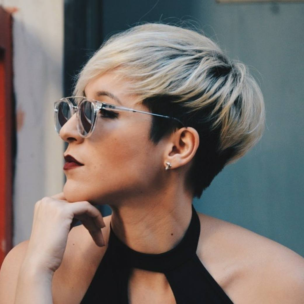 10 Short Hairstyles For Women Over 40 – Pixie Haircuts 2019 Throughout Two Tone Stacked Pixie Bob Haircuts (View 3 of 20)
