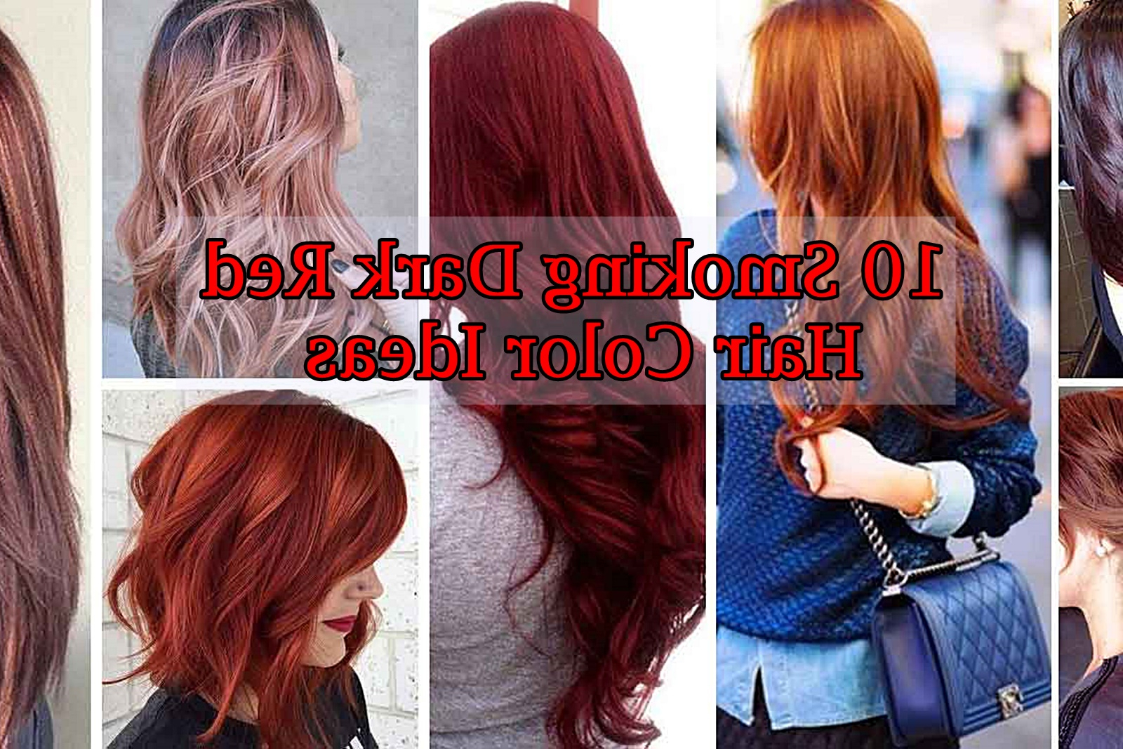 10 Smoking Dark Red Hair Color Ideas | Hairstyles & Hair Color For Regarding Short Crisp Bronde Bob Haircuts (View 1 of 20)