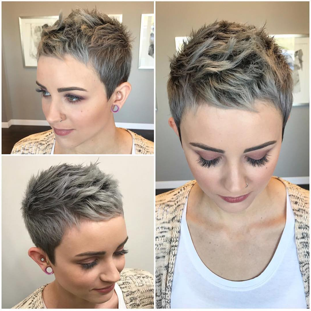 Photo Gallery Of Sweeping Pixie Hairstyles With Undercut Viewing 11