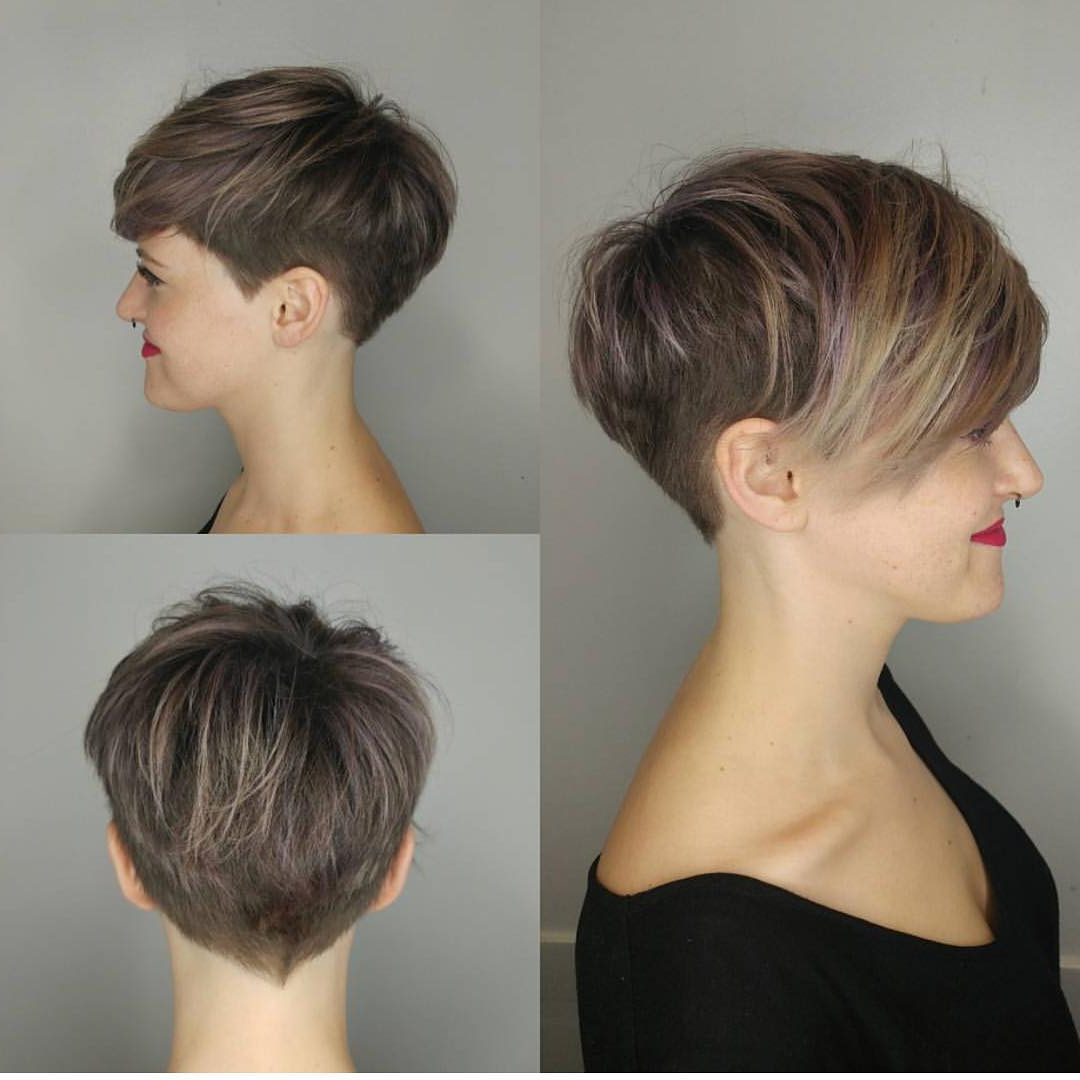 10 Stylish Pixie Haircuts – Women Short Undercut Hairstyles 2018 – 2019 Within Sweeping Pixie Hairstyles With Undercut (View 3 of 20)
