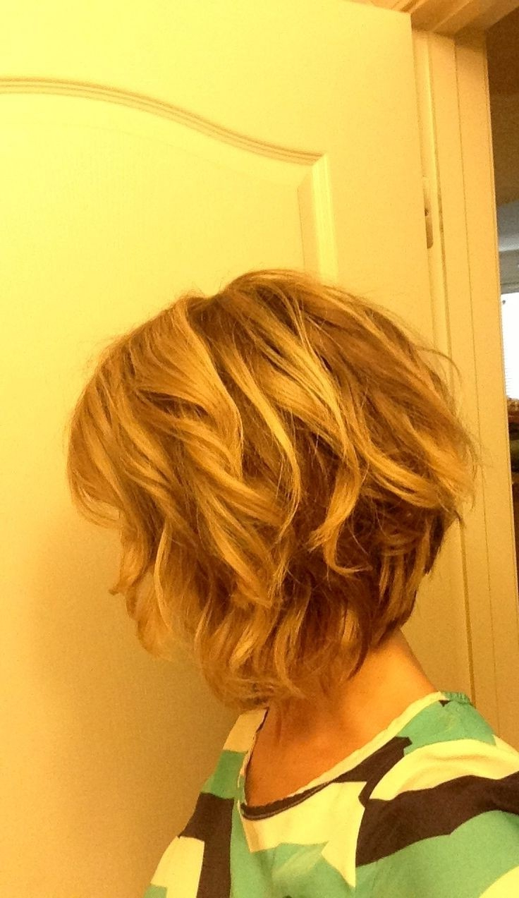 10 Stylish Wavy Bob Hairstyles For Medium, Short Hair – Popular Haircuts Inside Inverted Brunette Bob Hairstyles With Messy Curls (View 3 of 20)