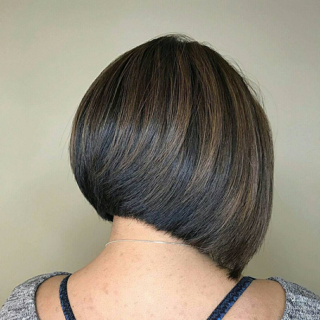 100+ Hottest Short Hairstyles For 2019: Best Short Haircuts For Within Side Parted Asymmetrical Gray Bob Hairstyles (View 6 of 20)