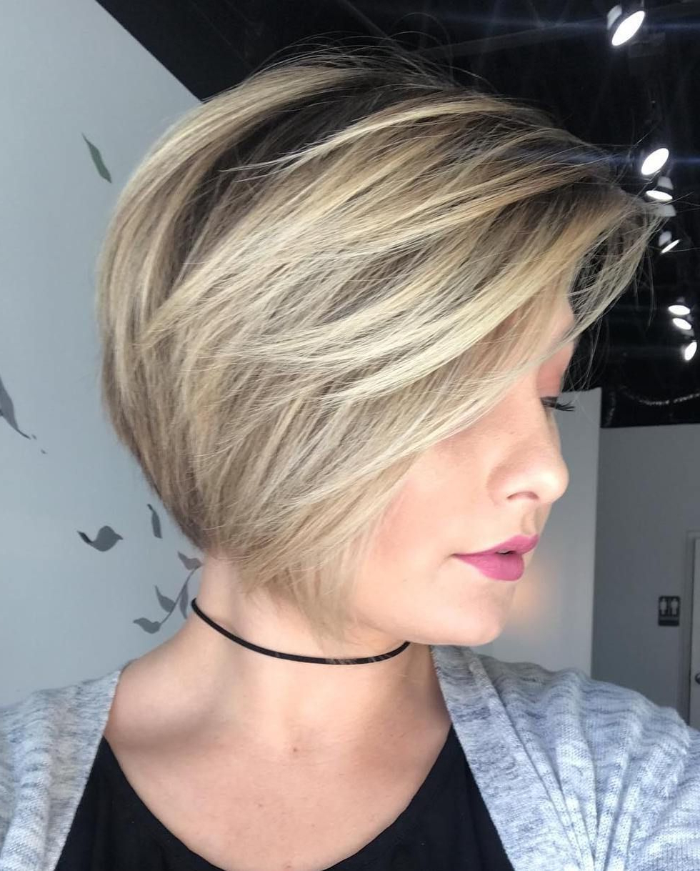 100 Mind Blowing Short Hairstyles For Fine Hair | Ash Blonde Bob Inside Ash Blonde Bob Hairstyles With Feathered Layers (View 4 of 20)