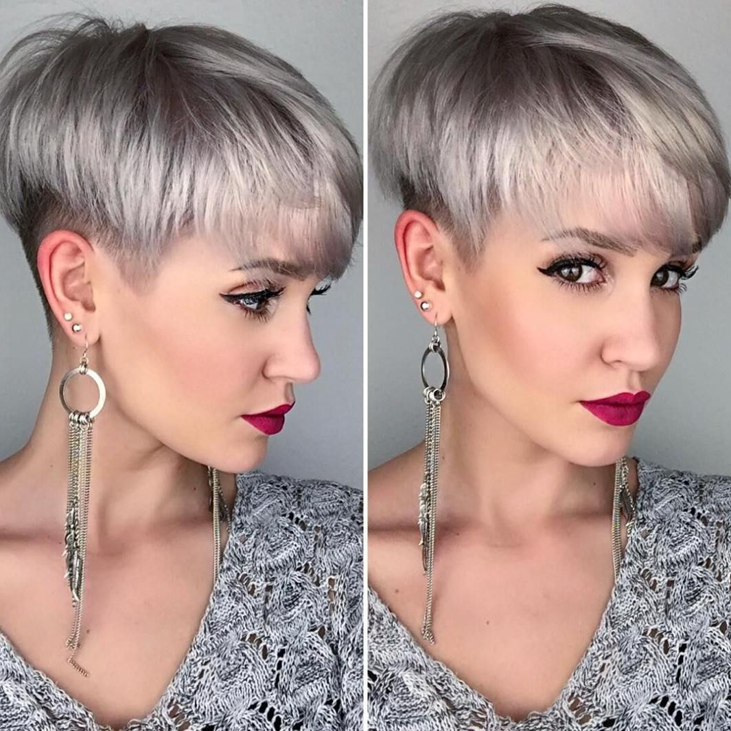 100 Mind Blowing Short Hairstyles For Fine Hair | Blonde Layers, Ash Regarding Ash Blonde Undercut Pixie Haircuts (View 2 of 20)