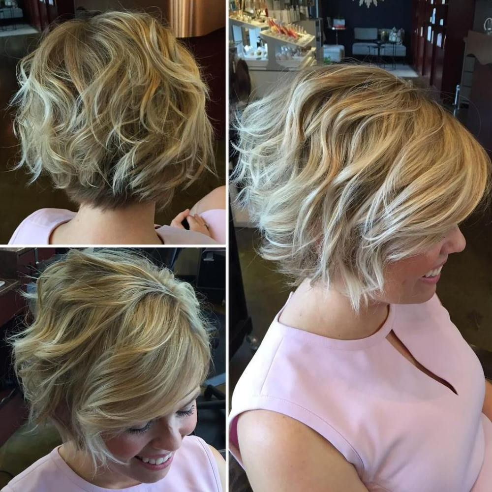 100 Mind Blowing Short Hairstyles For Fine Hair | Bob Hairstyles Regarding Tousled Wavy Bob Haircuts (View 12 of 20)