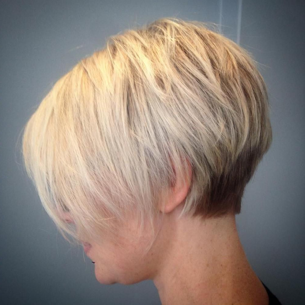 100 Mind Blowing Short Hairstyles For Fine Hair | Cute | Pinterest With Regard To Two Tone Stacked Pixie Bob Haircuts (View 4 of 20)