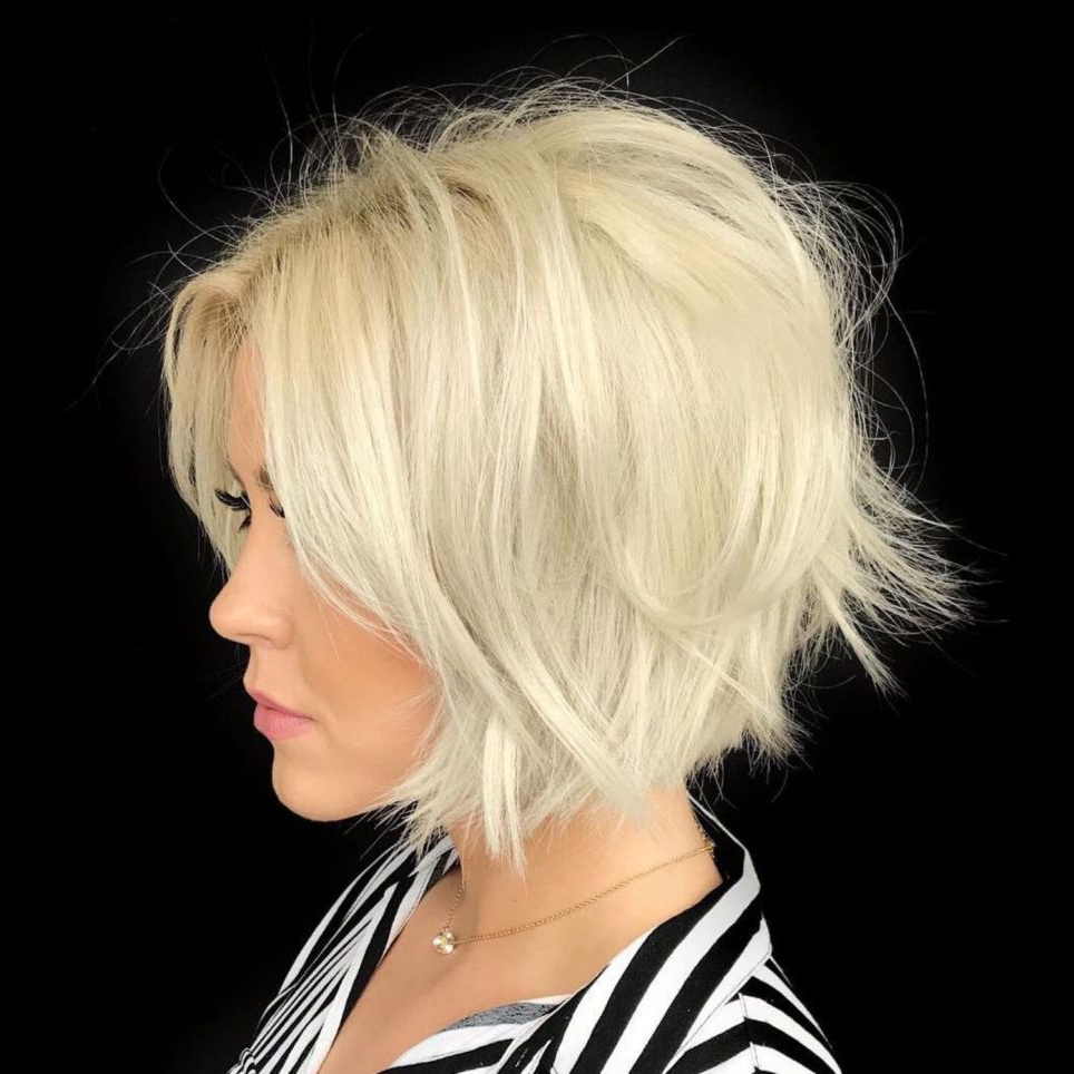 100 Mind Blowing Short Hairstyles For Fine Hair | El Pelo Regarding Dynamic Tousled Blonde Bob Hairstyles With Dark Underlayer (View 2 of 20)