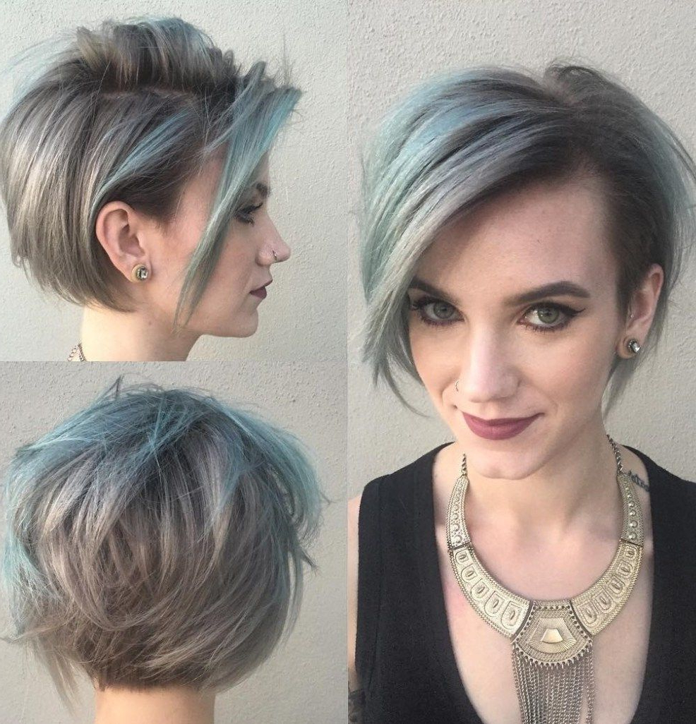 100 Mind Blowing Short Hairstyles For Fine Hair | Grey Hairstyle Pertaining To Short Gray Shag Hairstyles (View 4 of 20)