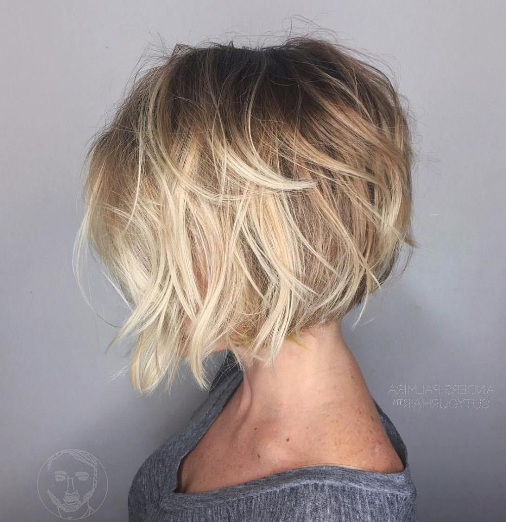 100 Mind Blowing Short Hairstyles For Fine Hair | Hair And Makeup Pertaining To Disheveled Brunette Choppy Bob Hairstyles (View 1 of 20)