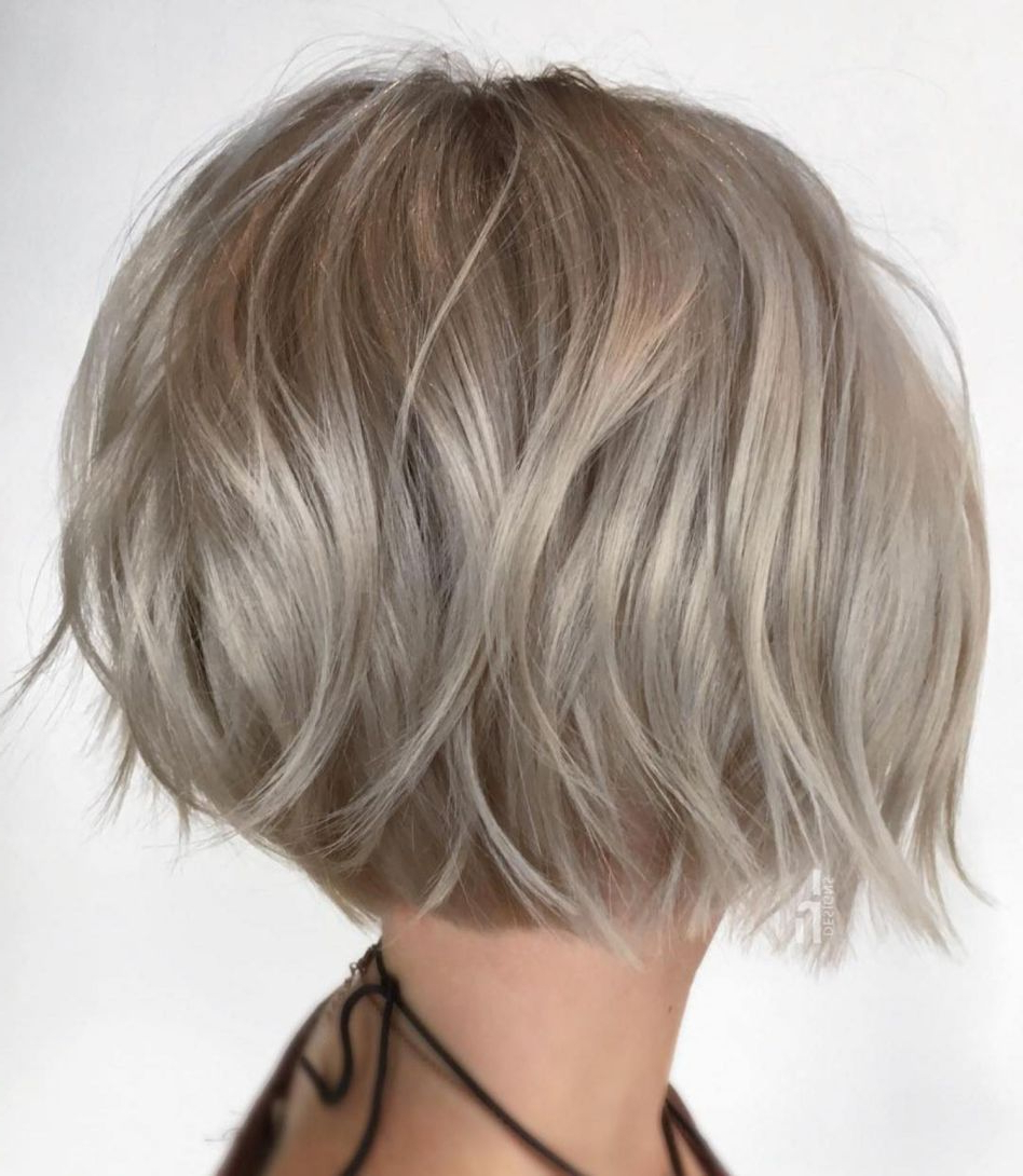 100 Mind Blowing Short Hairstyles For Fine Hair | Hair Colours Within Dynamic Tousled Blonde Bob Hairstyles With Dark Underlayer (View 3 of 20)