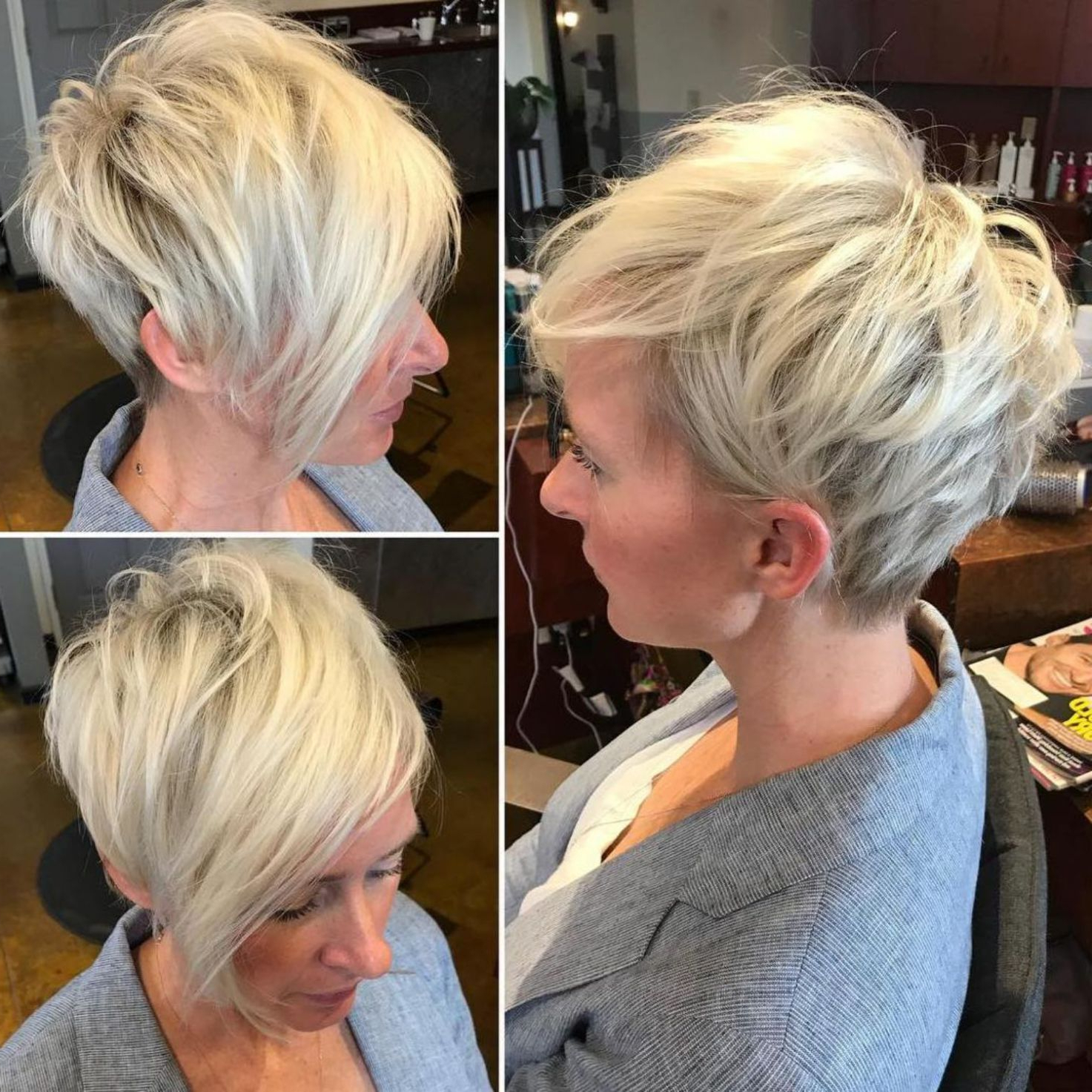 100 Mind Blowing Short Hairstyles For Fine Hair | Hair Dos For Disheveled Blonde Pixie Haircuts With Elongated Bangs (Gallery 1 of 20)
