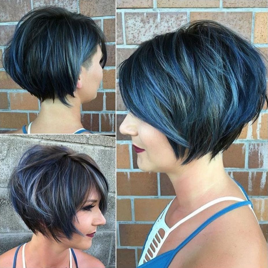 100 Mind Blowing Short Hairstyles For Fine Hair | Hair I Like Within Blue Balayage For Black Choppy Bob Hairstyles (View 6 of 20)