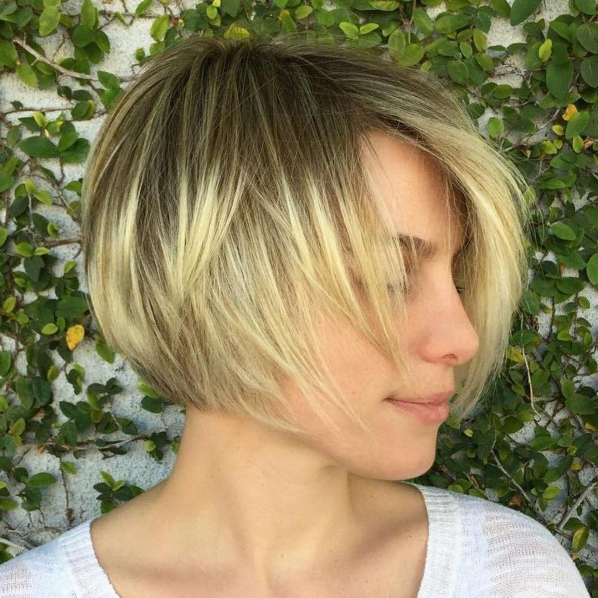 100 Mind Blowing Short Hairstyles For Fine Hair | Hair Inspo Throughout Dynamic Tousled Blonde Bob Hairstyles With Dark Underlayer (View 5 of 20)