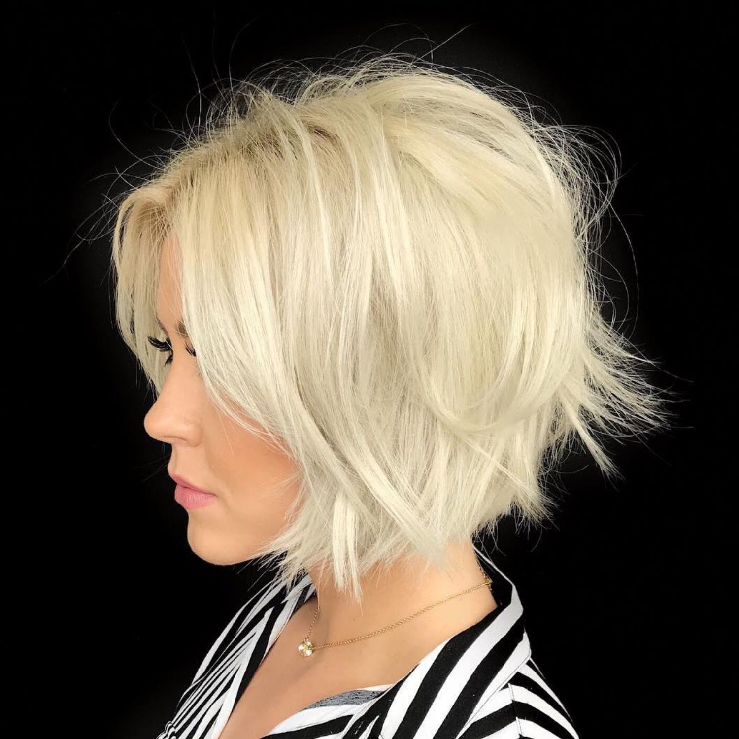 100 Mind Blowing Short Hairstyles For Fine Hair | Hair | Pinterest Inside Hazel Blonde Razored Bob Hairstyles (View 2 of 20)