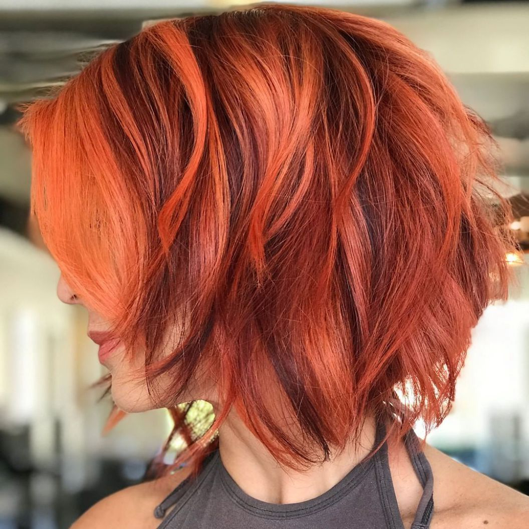 100 Mind Blowing Short Hairstyles For Fine Hair | Hair | Pinterest Intended For Burgundy And Tangerine Piecey Bob Hairstyles (View 1 of 20)