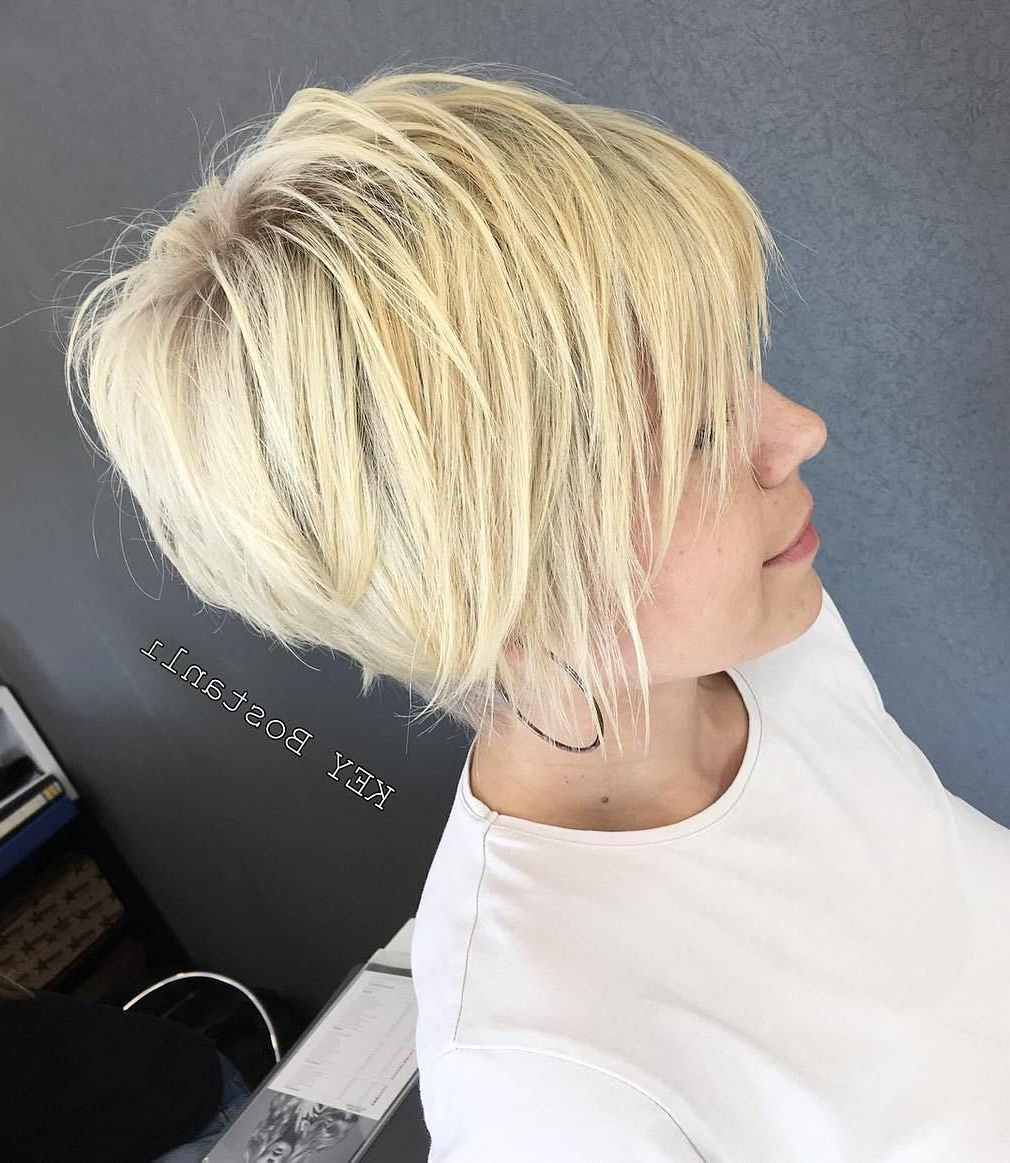Featured Photo of Sunny Blonde Finely Chopped Pixie Haircuts