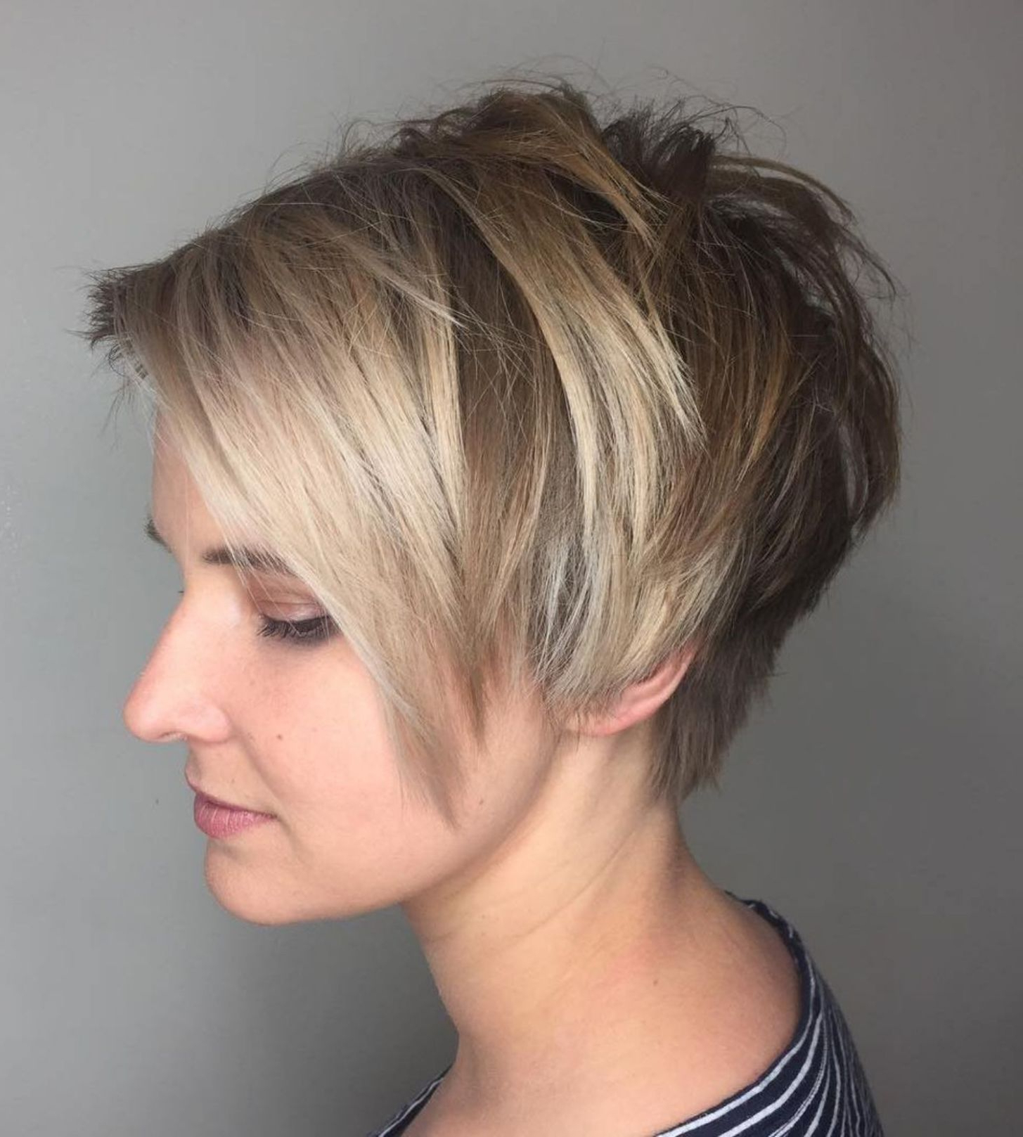 Featured Photo of Elongated Choppy Pixie Haircuts With Tapered Back
