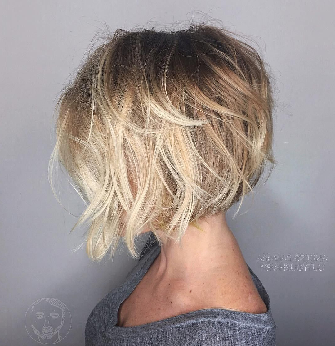 100 Mind Blowing Short Hairstyles For Fine Hair | Hair Styles Throughout Balayage Bob Haircuts With Layers (View 9 of 20)