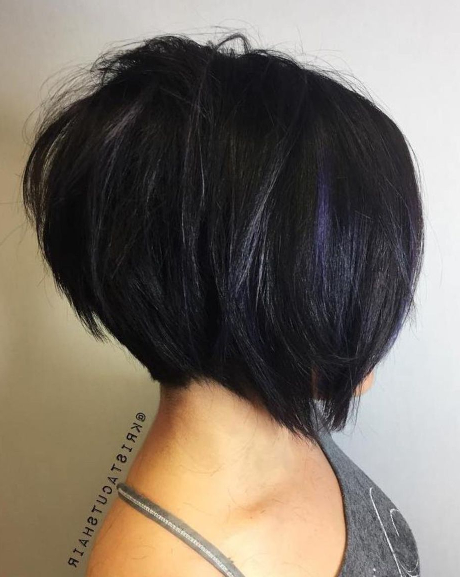 100 Mind Blowing Short Hairstyles For Fine Hair | Hairstyles With Regard To Blue Balayage For Black Choppy Bob Hairstyles (View 5 of 20)