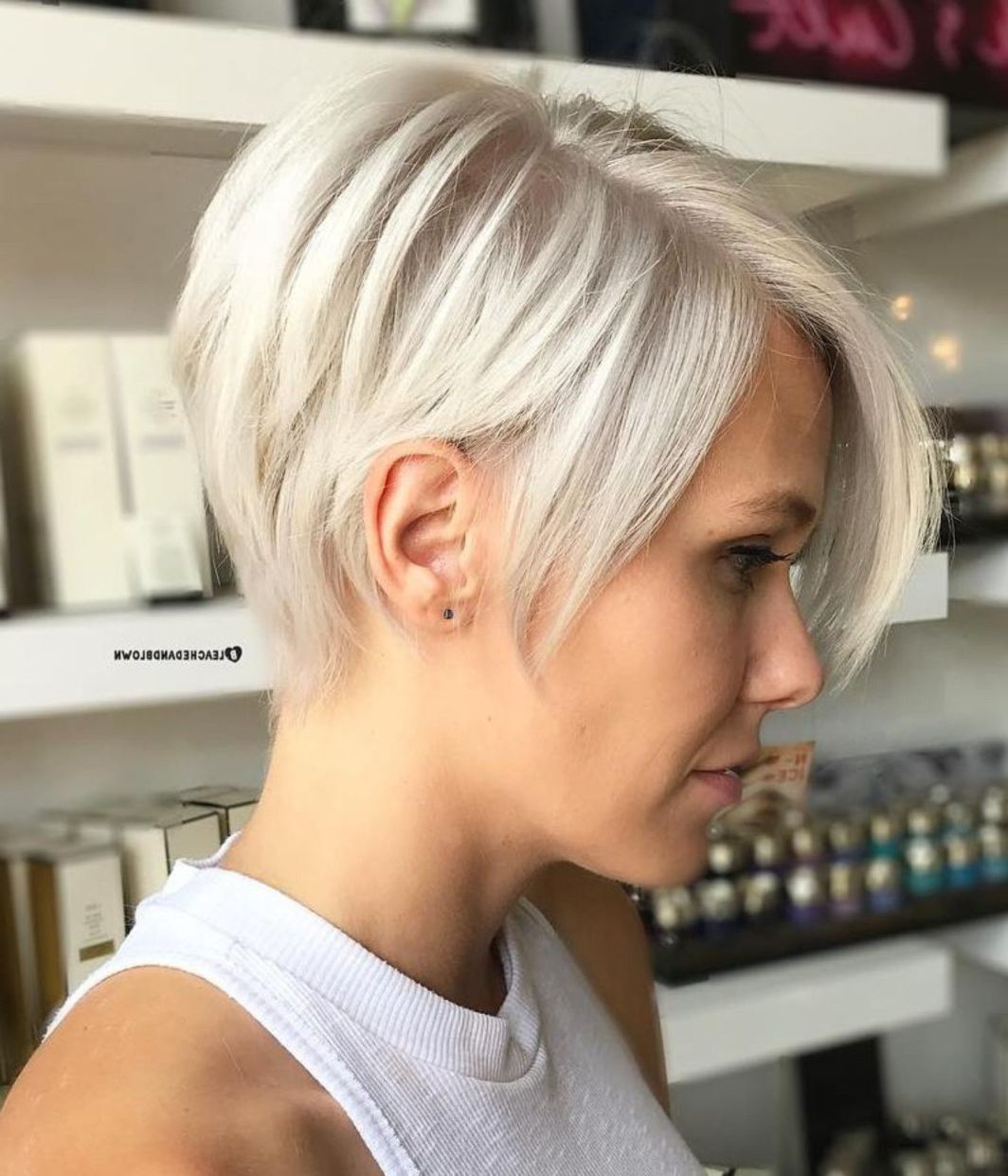 100 Mind Blowing Short Hairstyles For Fine Hair In 2018 | Beige Pertaining To Sunny Blonde Finely Chopped Pixie Haircuts (View 2 of 20)