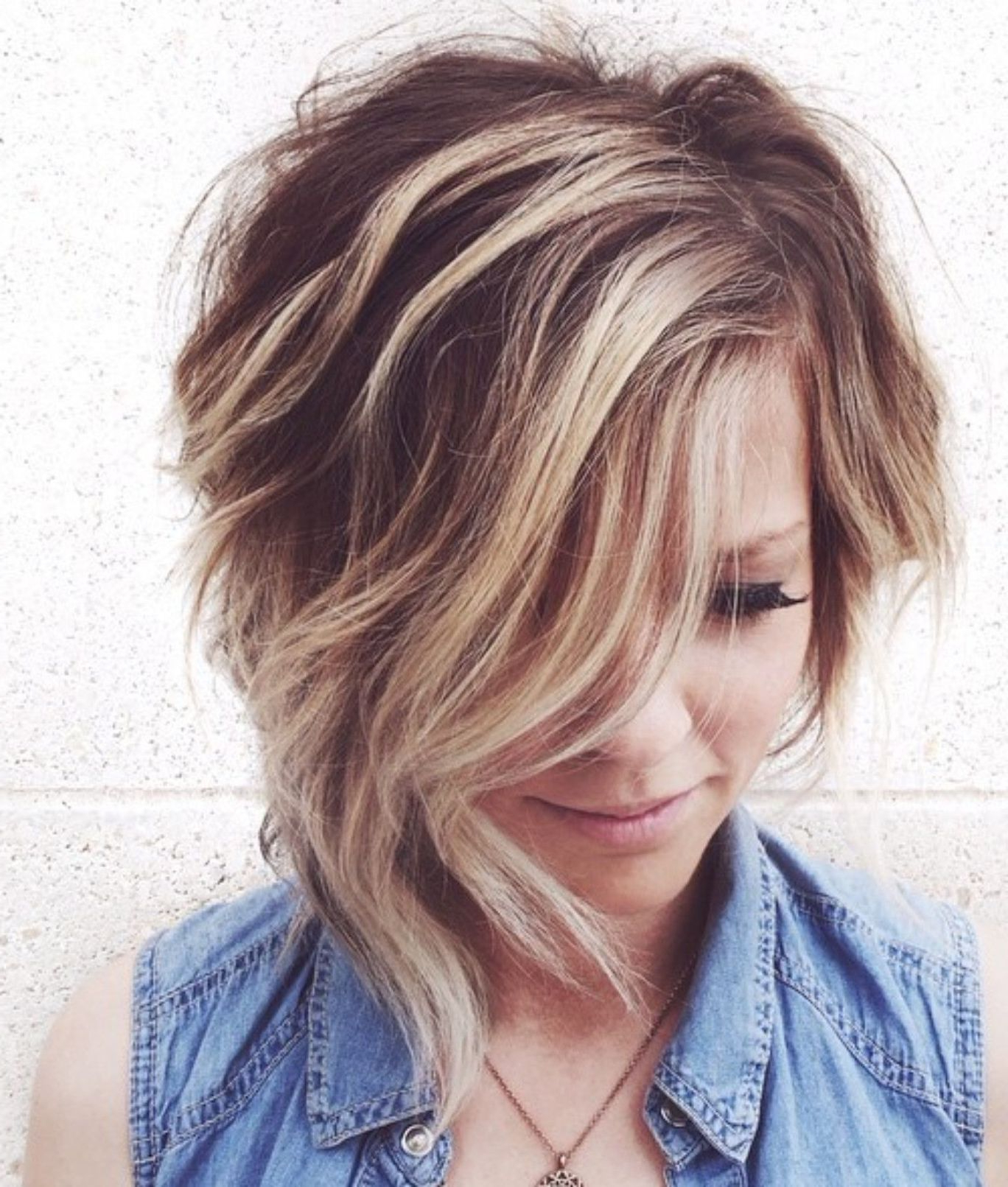 100 Mind Blowing Short Hairstyles For Fine Hair In 2018 | Bob Hair Intended For Side Parted Asymmetrical Gray Bob Hairstyles (View 5 of 20)