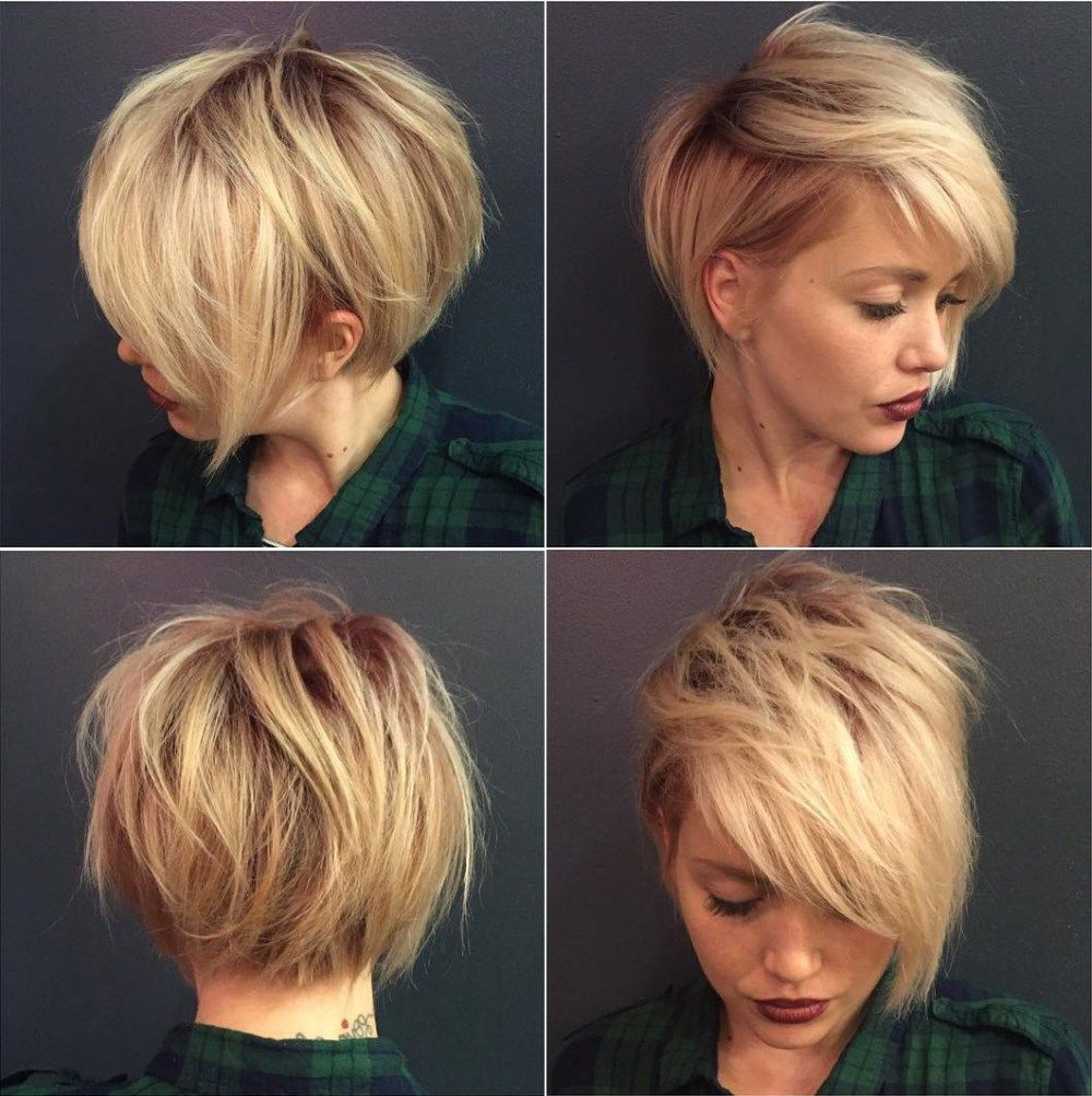 100 Mind Blowing Short Hairstyles For Fine Hair In 2018 | Hurr With Regard To Short Messy Asymmetrical Bob Haircuts (View 4 of 20)