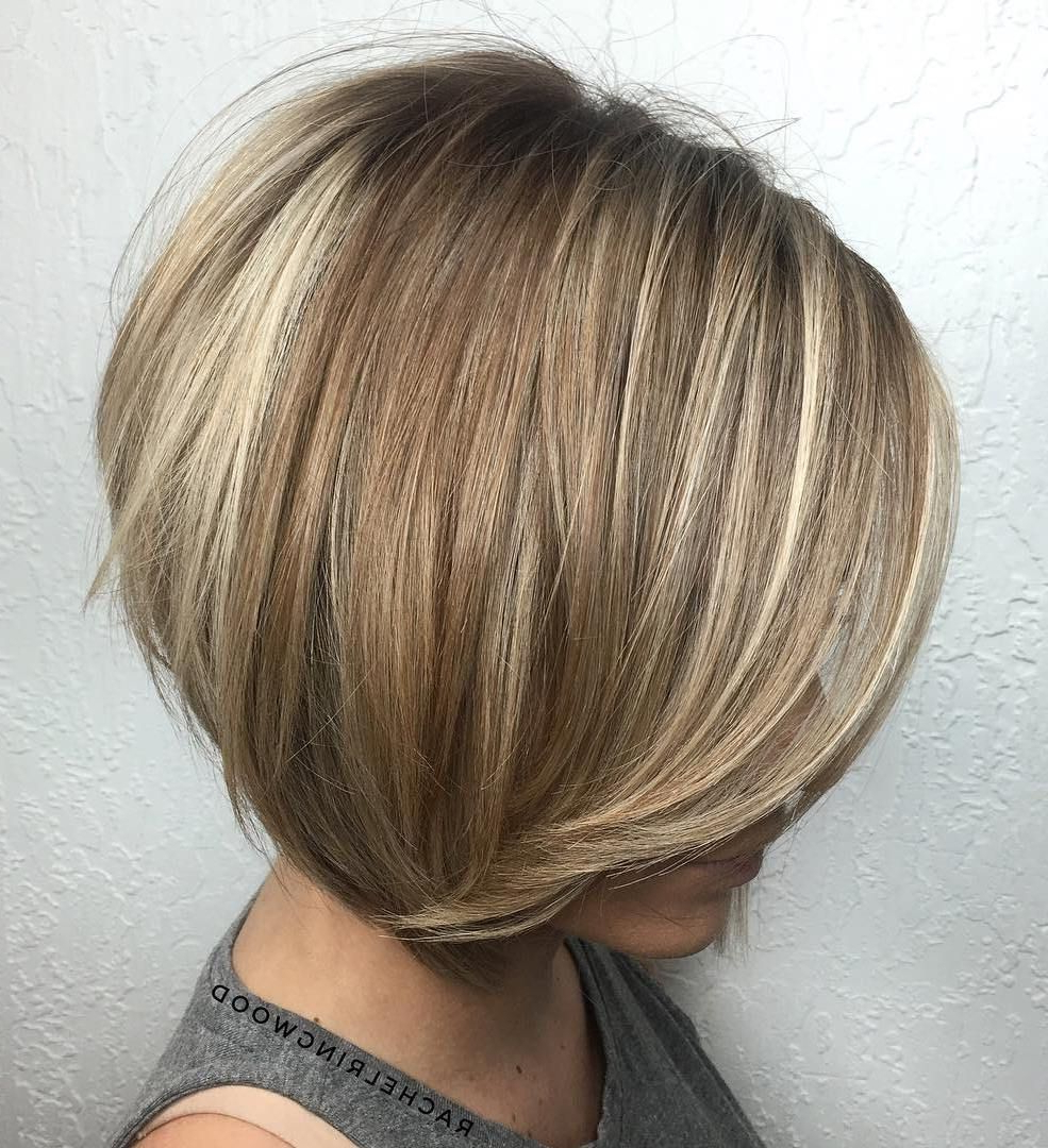 100 Mind Blowing Short Hairstyles For Fine Hair | Pinterest | Brown Within Stacked Blonde Balayage Bob Hairstyles (View 3 of 20)