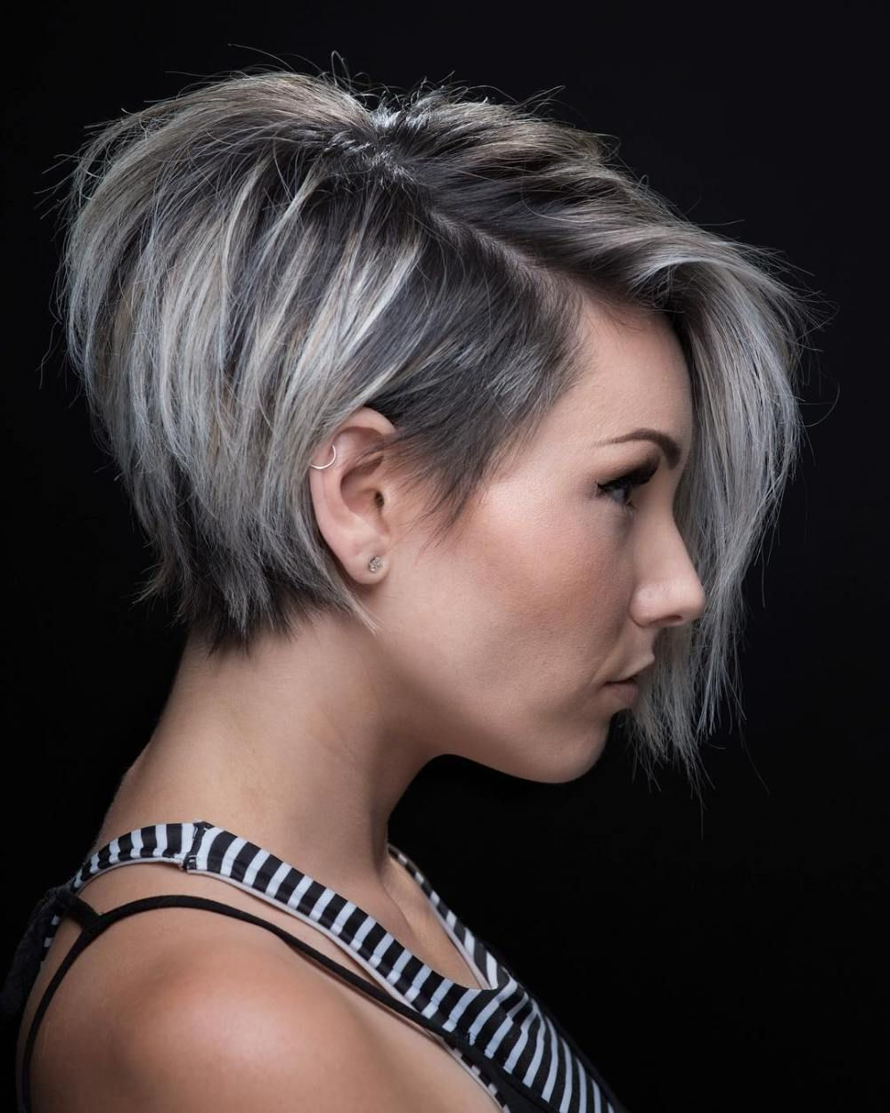 100 Mind Blowing Short Hairstyles For Fine Hair | Pixie Bob, Long For Highlighted Pixie Bob Hairstyles With Long Bangs (View 15 of 20)